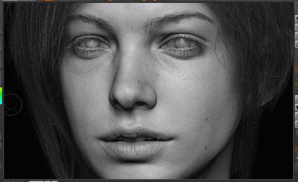 3D Female Face Portraits