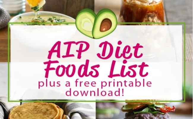 Aip Diet Food List A Free Printable Grass Fed Salsa