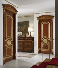 Luxurious interior design in a classic style with wooden ...