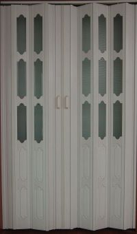 Plastic sliding folding doors interior