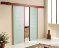 The glass sliding doors