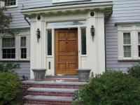 Vintage solid wood front door with glass