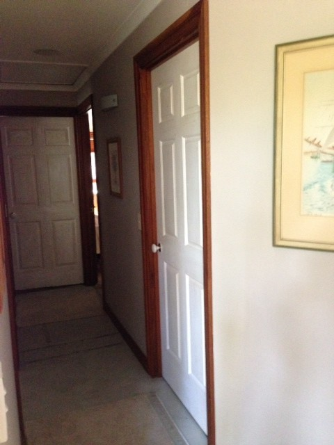 Pictures of stained interior doors with painted trim for What paint to use on interior wood doors