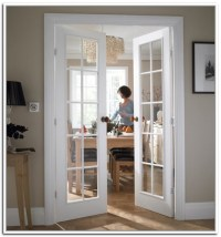 White interior french doors with glass photo