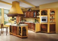 Italian kitchen - orange and yellow colors in the interior ...