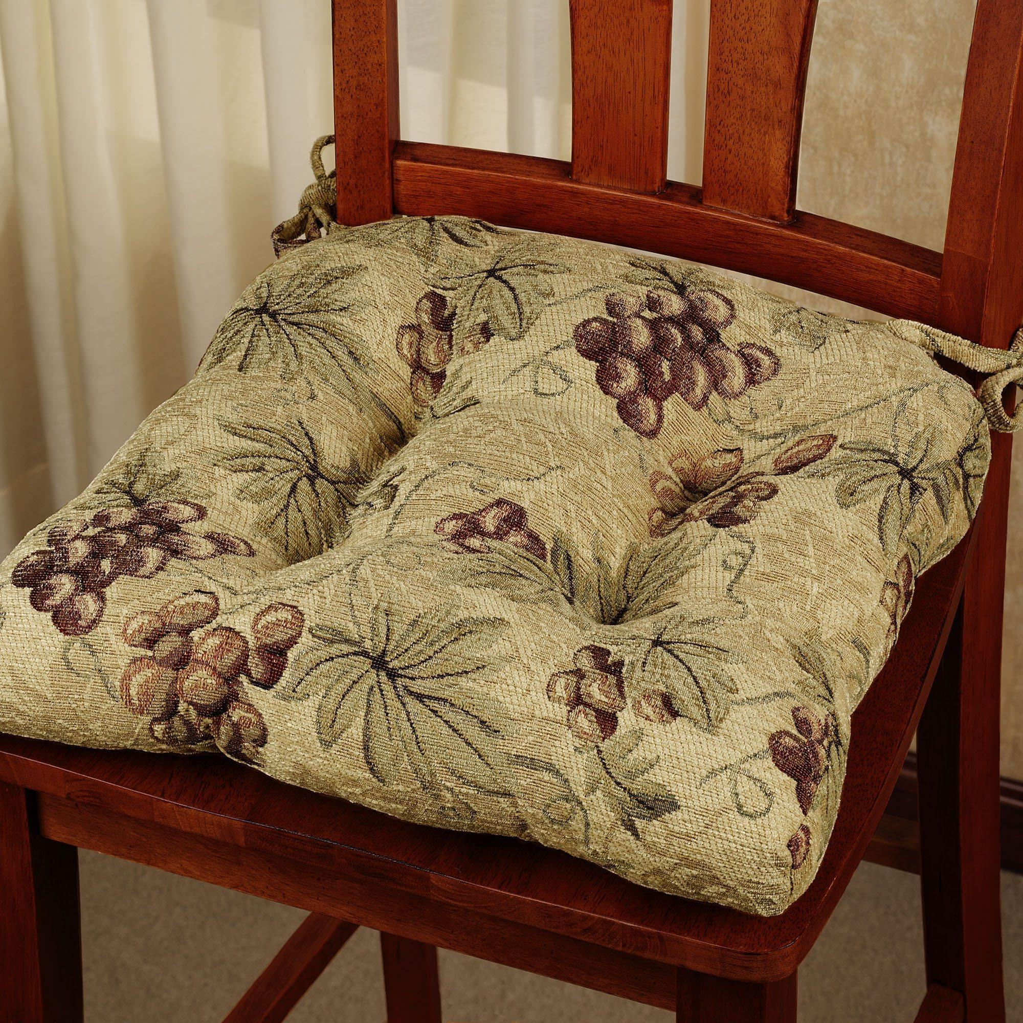 chair cushions with ties french country folding plastic chairs style kitchens