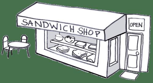 A sandwich shop