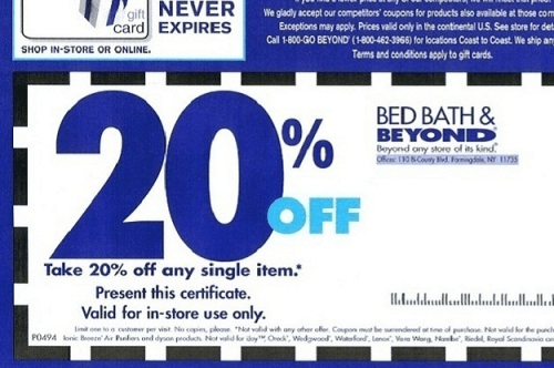 20%-off Bed Bath & Beyond coupon