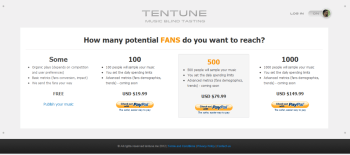 The package that is available on Tentune