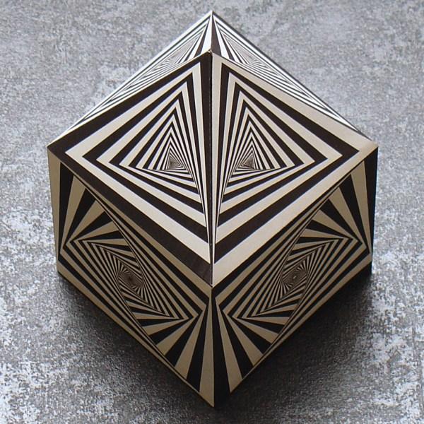 Design Op Art Cubes Template