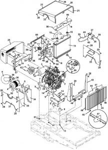 321D 3-cylinder Kubota Diesel Mower