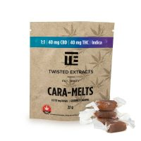 Twisted Extracts 1 to 1 Indica Cara-Melts (40 mg THC & 40mg CBD)