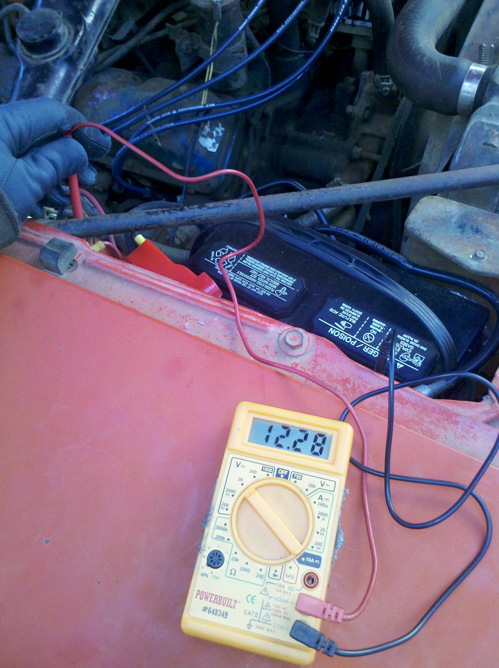 hight resolution of the javelin now sports the following new parts battery battery cables ground cables starter cable starter starter solenoid ignition switch