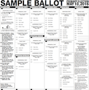 Nebraska's Primary Election, May 13th, SAMPLE BALLOTS