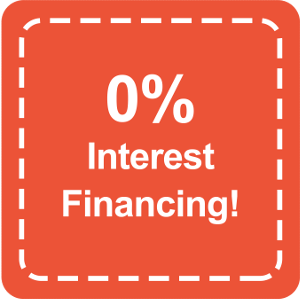 0% Interest Financing!