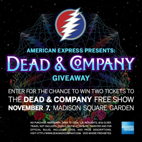 4f893bcbfb9 Dead And Company Add FREE Show November 7th to MSG