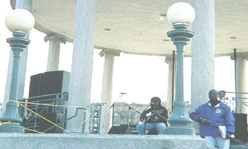 Cedric Josey, Troubadour for peace: photo by Natalie Davis