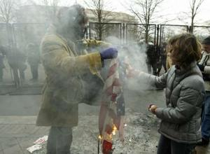 Get over yourself, Red Staters. It is a piece of friggin' cloth. Photo by Reuters' Jim Bourg