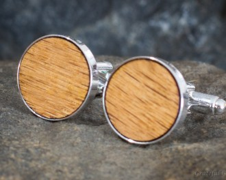 Heart of Gold | Wood Cufflinks