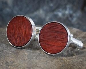Wine Oak Barrel Wood Cufflinks