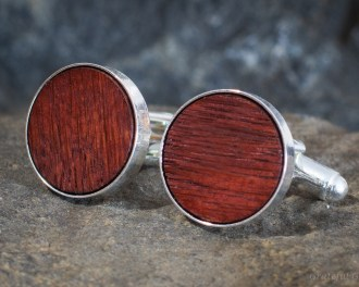 Wine Oak Barrel Wood Cufflinks
