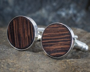 Caramel Delight Wood Cufflinks