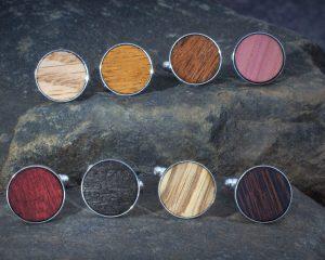 wood cufflinks, wood cuff links, wood, wooden