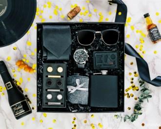 Gift Box Sunglasses Flask Cufflinks Tie Clip Luxury Watch