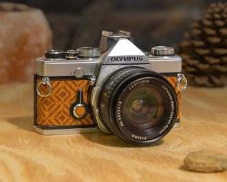 Olympus om1 wood camera