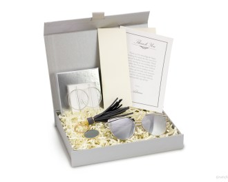 maid of honor gift proposal black tea natural candle sunglasses silver earrings for wedding gift box