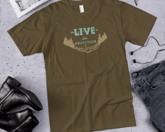 Mountain Adventure Gratitude T-shirt