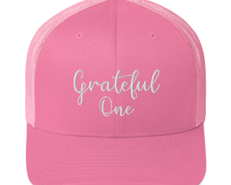 Grateful One snapback trucker hat