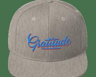 Gratitude Blue Red Hat