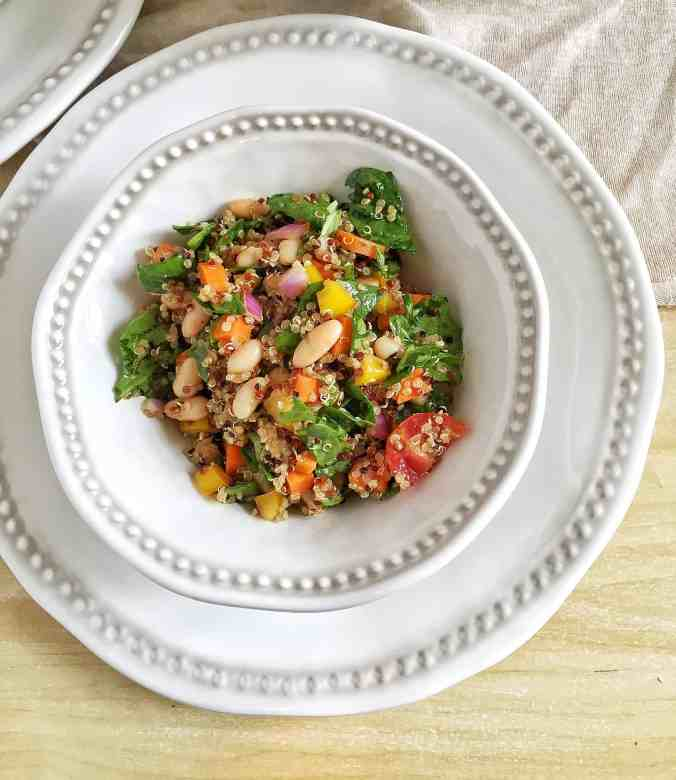 Rainbow Quinoa Salad {+ Phytonutrient Guide} | The Grateful Grazer | www.gratefulgrazer.com
