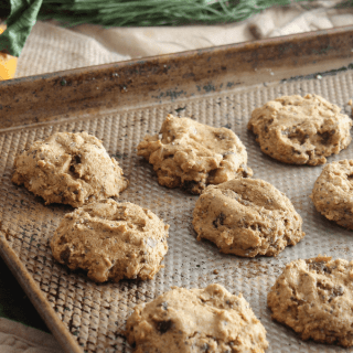 Ginger and cinnamon spice, along with dried apricots and fresh mandarin oranges, give these whole wheat apricot cookies tons of cozy flavor. Vegan!
