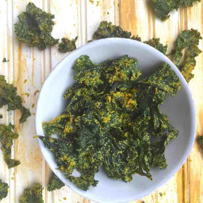 Curried Kale Chips (+ Dehydrators!) | The Grateful Grazer | www.gratefulgrazer.com | #vegan #glutenfree #paleo #kalechips