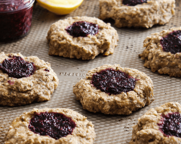 Whole Grain Thumbprint Cookies