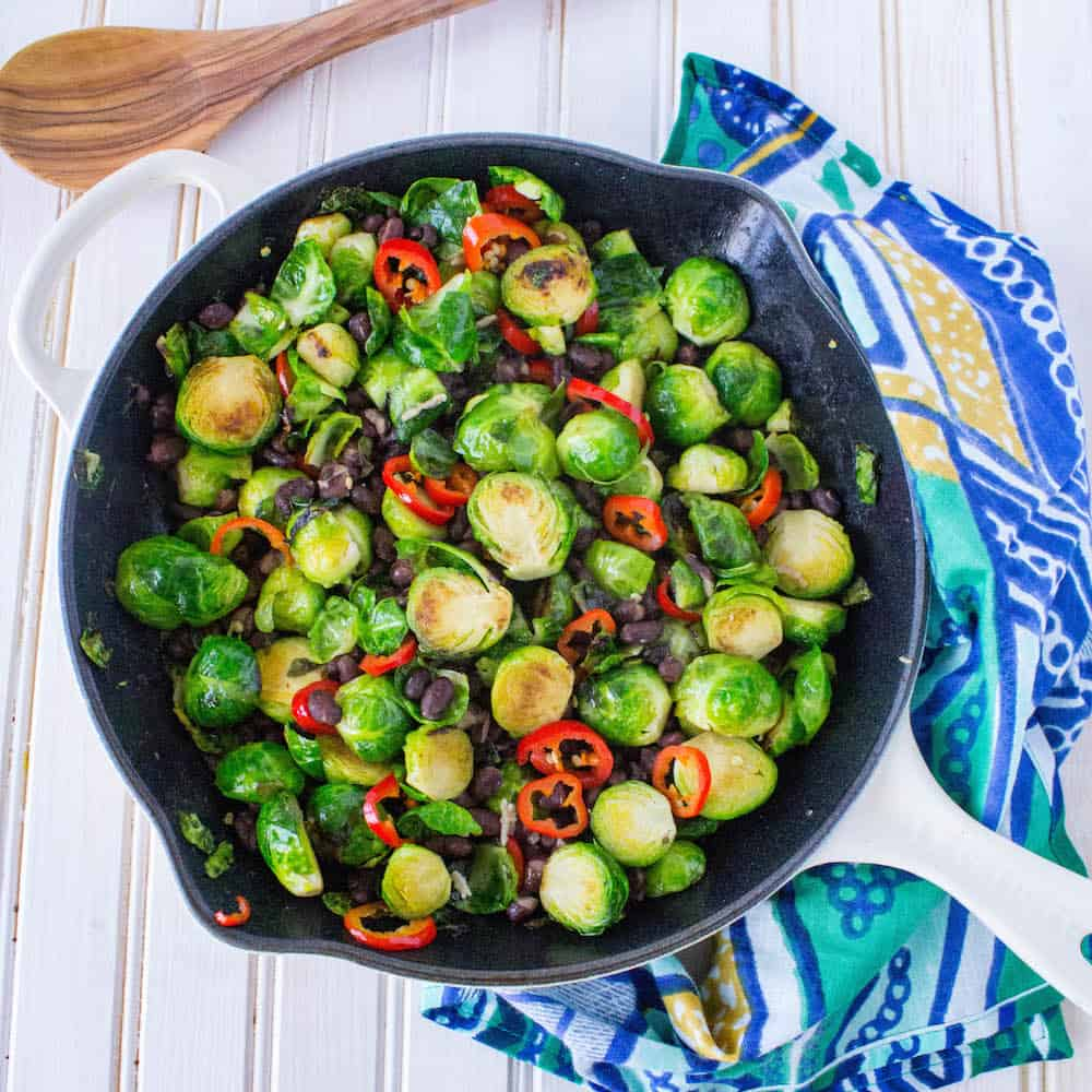 Brussels Sprouts with Cherry Tomato Sauté