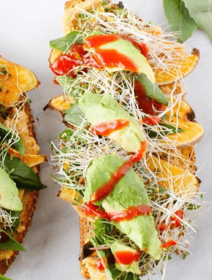 Favorite Sweet Potato Hummus Sandwich