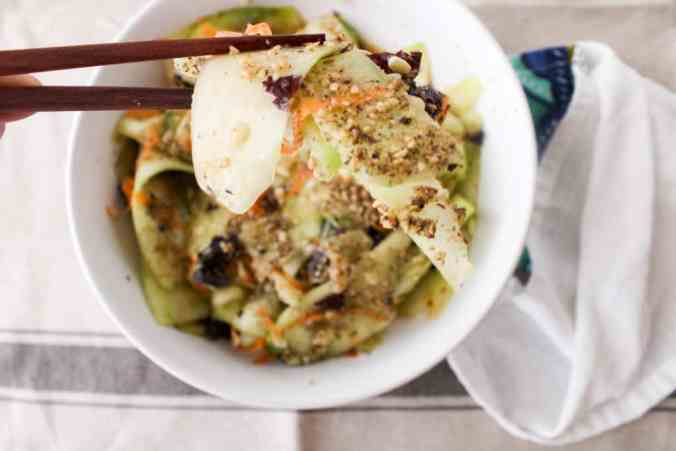 Seaweed Gomasio Cucumber Salad by The Grateful Grazer