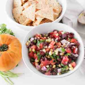 Grilled Corn Heirloom Tomato Salsa from The Grateful Grazer