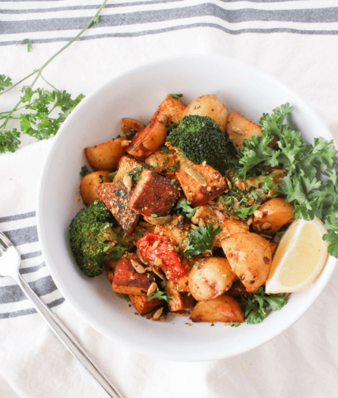 Austrian potato hash (groestl) is a traditional dish revamped in this vegan recipe.
