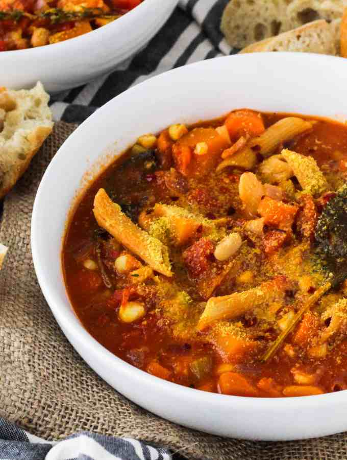 Hearty Vegan Minestrone Stew with Butternut Squash
