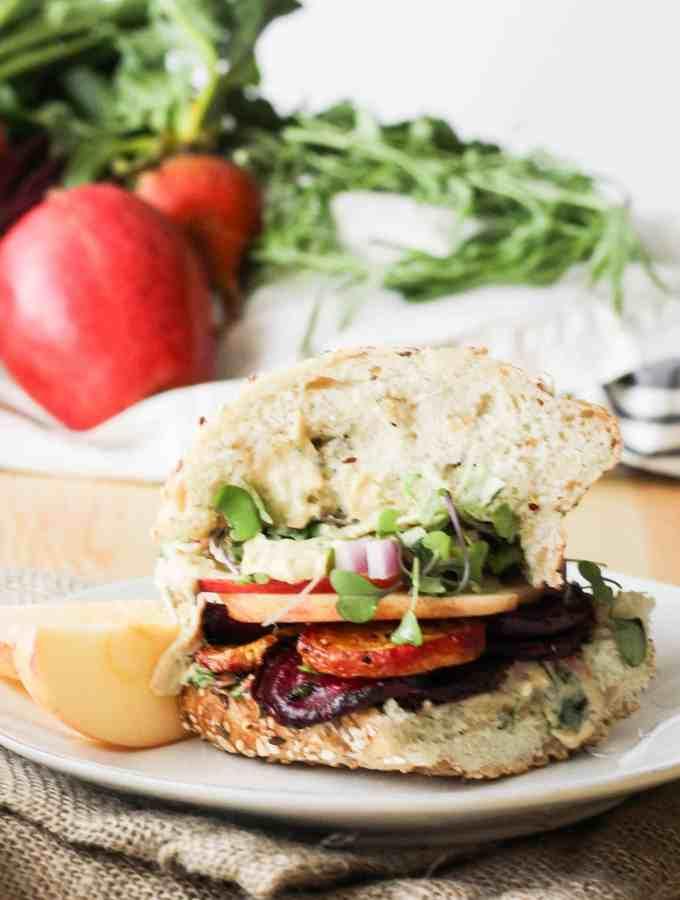 Award-Winning Garlic Tarragon Roasted Beet Sandwiches