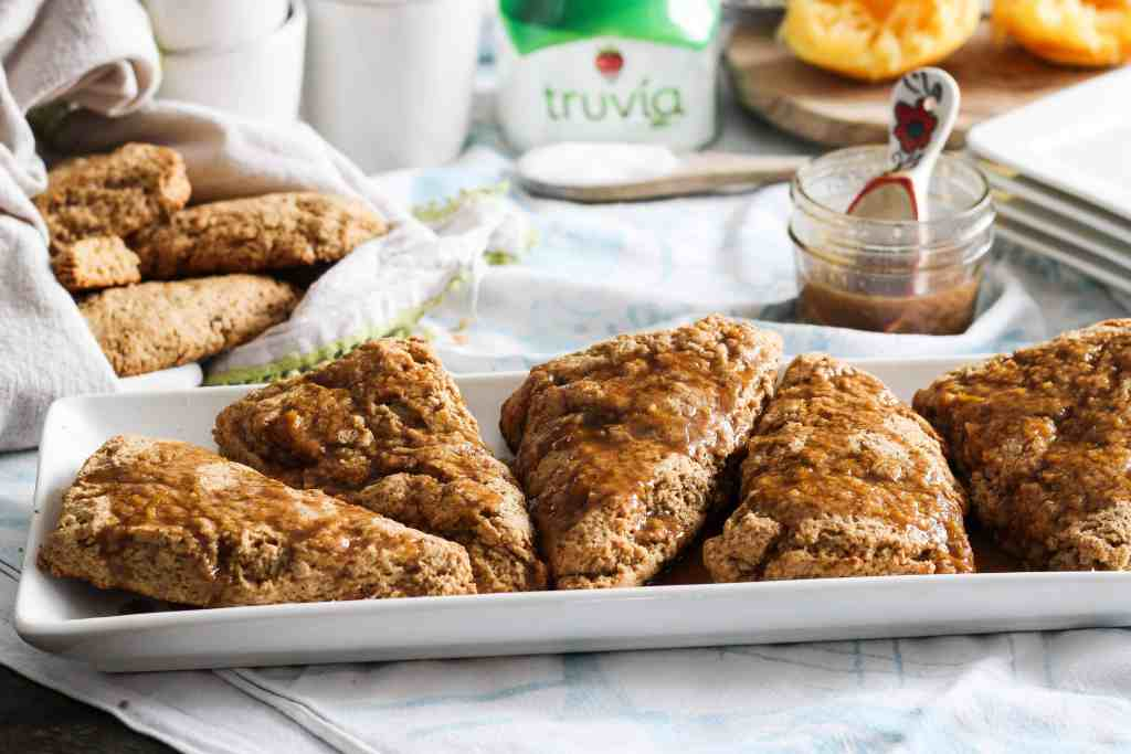 Whole Wheat Orange Cardamom Scones! These healthy whole wheat scones are a delicious and nourishing way to start the day. Plant-based recipe, vegan option.