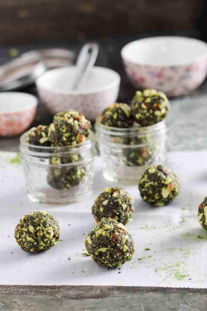 These simple 5-ingredient matcha energy bites are nourishing and delicious for convenient snacking on-the-go. Energize with antioxidant-rich green tea!