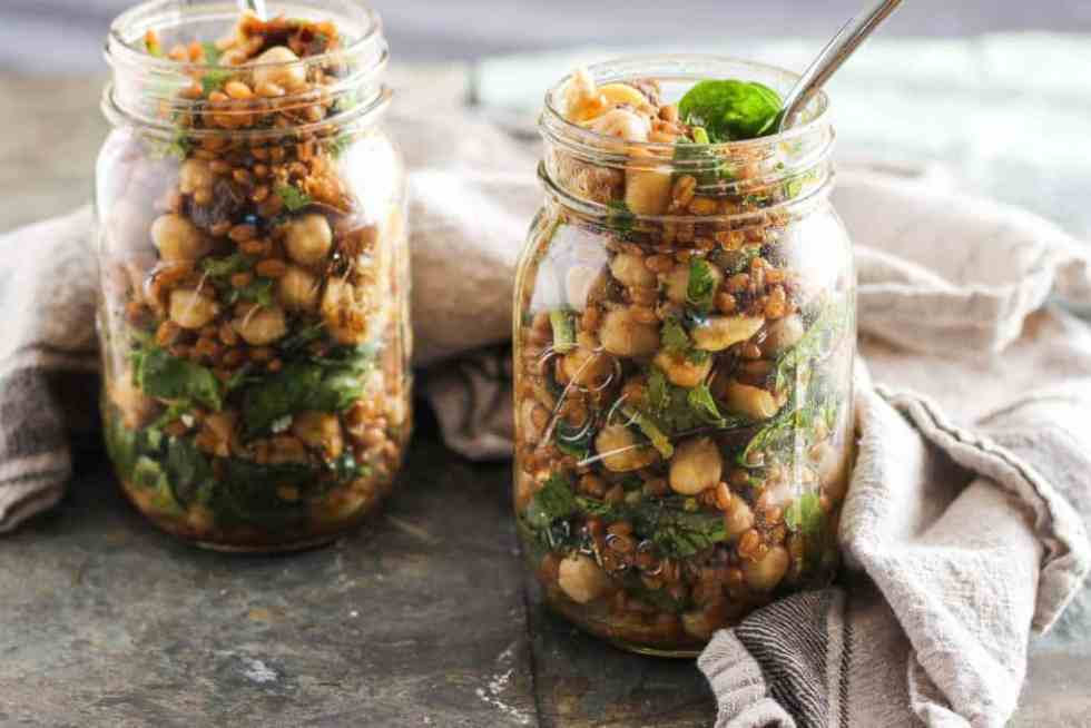 This Moroccan-inspired chickpea grain salad is flavorful, nutritious, and hearty enough to stand the test of travel. Break out of your weekday lunch rut!