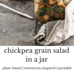 This Moroccan-inspired chickpea salad is flavorful, nutritious, and hearty enough to stand the test of travel. Break out of your weekday lunch rut!