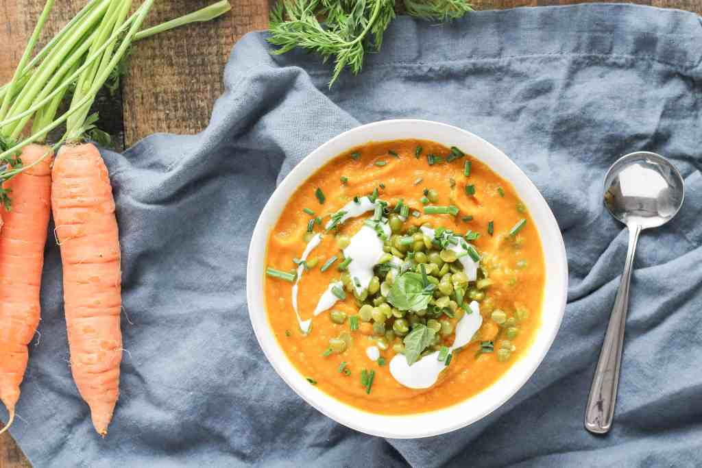 This flavorful fall soup is packed with seasonal vegetables, and it's filling enough to have as a main dish for lunch or dinner.