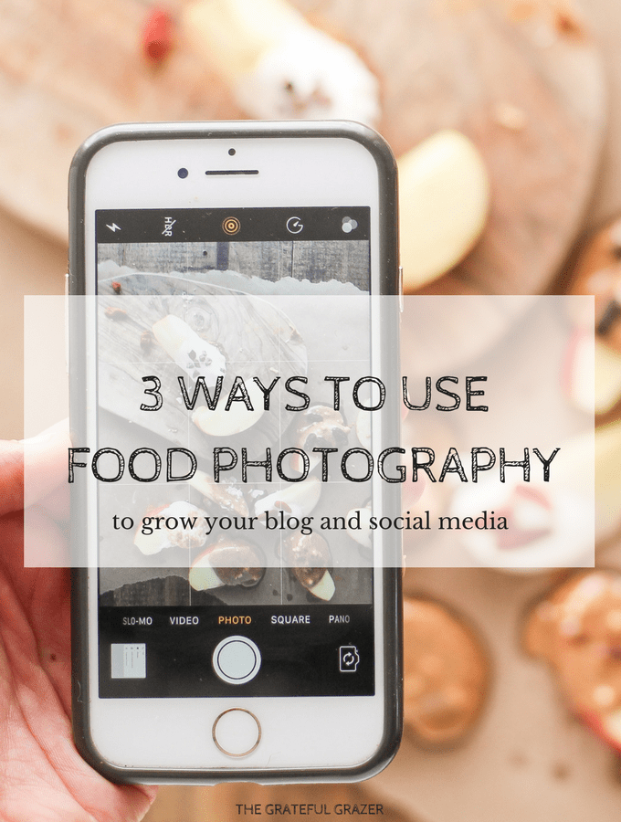 Want more traffic to your blog and more likes and followers on Instagram? I'm sharing three ways I used food photography to grow my nutrition business.